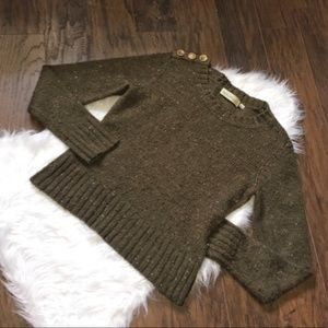 Anthropologie Charlie Robin Speckled Wool Sweater